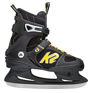 K2 Herren Schlittschuhe FIT Ice, Schwarz-Gelb, 11, 2550000.1.1.110