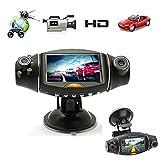 Changeshopping 2.7IN 1080P Video Dashboard Vehicle Dual Lens Camera Recorder GPS HD Car DVR