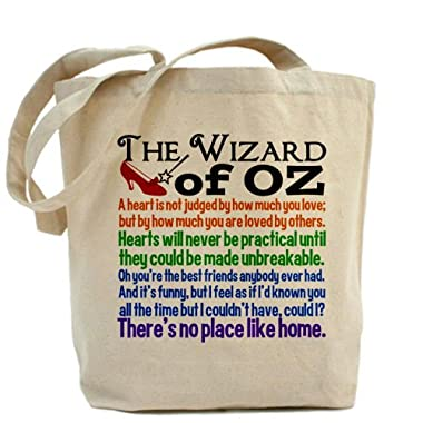 CafePress Wizard of Oz Quotes Tote Bag - Standard Multi-color