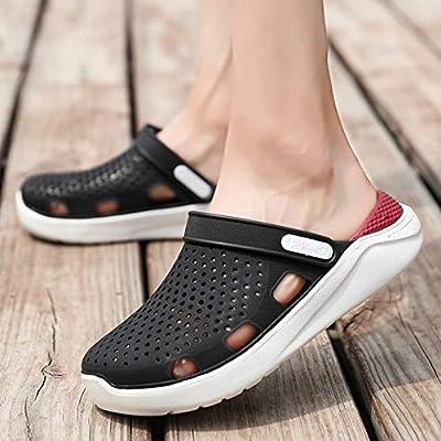 Tanxianlu Zuecos de Verano Mule para Hombres Zapatos de Zueco de jardín Zapatillas para Hombre Zapatillas de Chanclas Sandalias,Negro,7.5: Amazon.es: Deportes y aire libre