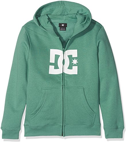 DC Shoes Boys' Star Zip-up Hoodie, Green/White-Combo, Size 14/Large ()