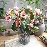 Aviat Artificial Leaf Magnolia Long Branch Flowers Arrangement Floral for Birthday Party Wedding Bouquet Garden Home Decor