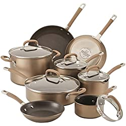 Circulon Circulon Premier Professional 13-piece Hard-anodized Cookware Set Bronze Exterior Stainless Steel Base