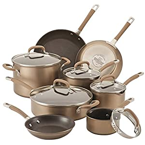 Circulon Circulon Premier Professional 13-piece Hard-anodized Cookware Set Bronze Exterior Stainless Steel Base 51ZDEzVcU9L