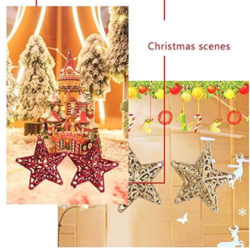 Fête Fuxitoggo D'arbre Neige Creux Suspendue Décor Noël Étoile Pendentif Ornement De Arbre Décorations Paillettes Flocon wzrHqUw