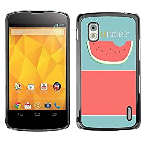 - Cute Girly Lovely - - Monedero pared Design Premium cuero del tir¨®n magn¨¦tico delgado del caso de la cubierta pata de ca FOR LG Goole Nexus 4 E960 Funny House