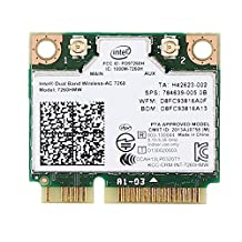 Intel Dual Band Wireless-ac 7260 7260hmw Half Mini Pci-e Bluetooth Bt Wireless Wifi Card 802.11 Ac a B G N 710661-001 for Hp Laptop