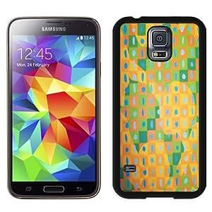Beautiful Unique Designed Cover Case For Samsung Galaxy S5 I9600 G900a G900v G900p G900t G900w With Squares Black Phone Case