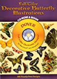 Full-Color Decorative Butterfly Illustrations, Dover Staff and Dover Clip Art Editors, 0486999661