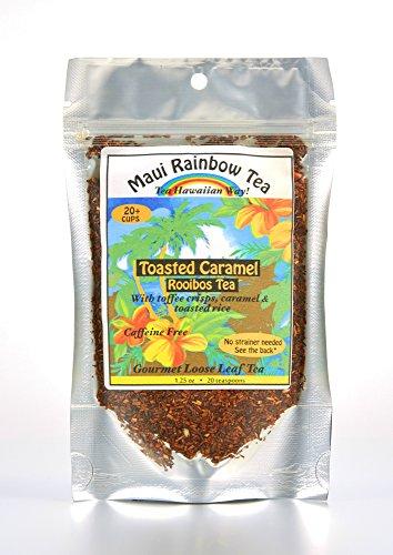 Toasted Caramel Rooibos Tea 20-cup bag • Gourmet herbal loose leaf tea by Maui Rainbow Tea • Caffeine free