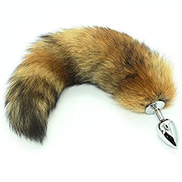 3bcdd0b5f Nomisex Bigger Size Soft Wild Fox Tail Stainless Steel Anal Plug Butt for  Women Suppositories Cospaly