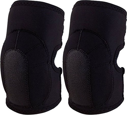 Black Tactical Slip-On Neoprene Elbow Pads Protective -