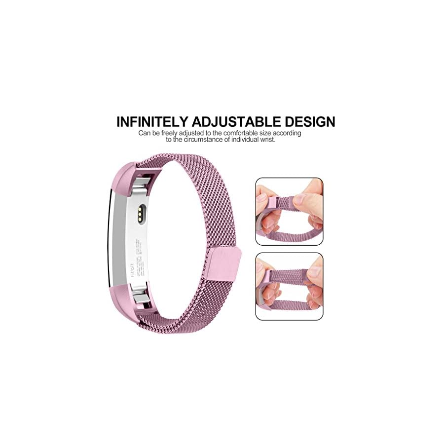 Vancle For Fitbit Alta HR Band/Alta Band, Fitbit Alta Accessories Replacement bands Metal Wristband Band Strap with Magnetic Closure Clasp for Fitbit Alta HR/Fitbit Alta