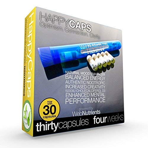 30 HappyCaps - Mood-Enhancing, Brain Boosting Nutrition - For Better Confidence, Energy, Clarity and A Positive Outlook.