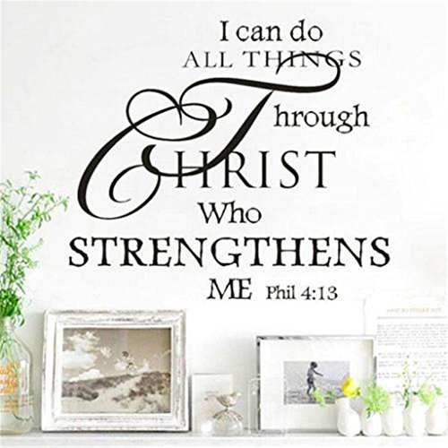 GUAngqi I Can Do All Things Through Christ Who Strengthens Me Wall Art Vinyl Decal