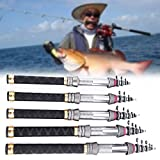 Short Portable Carbon Fiber Telescopic Sea Fishing Rod Pole 1.3/1.5/1.8/2.1/2.4m