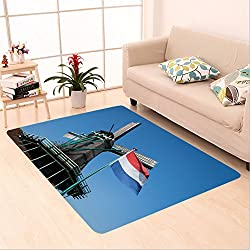 Sophiehome skid Slip rubber back antibacterial Area Rug netherlands flag and windmill at zaanse schans netherlands 487236673 Home Decorative