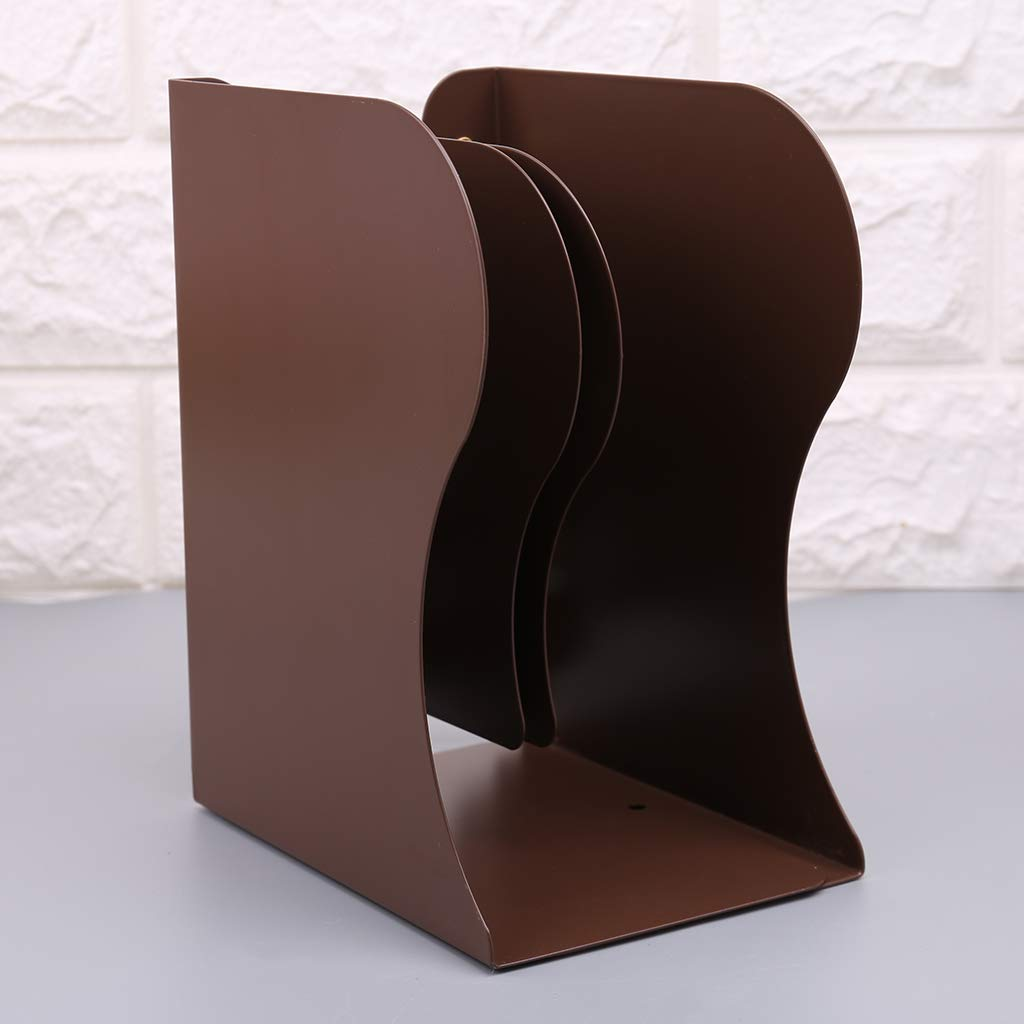 Fermalibri in metallo Buleerouy per libri e cartelle da ufficio estensibile resistente regolabile supporto retrattile M bianco