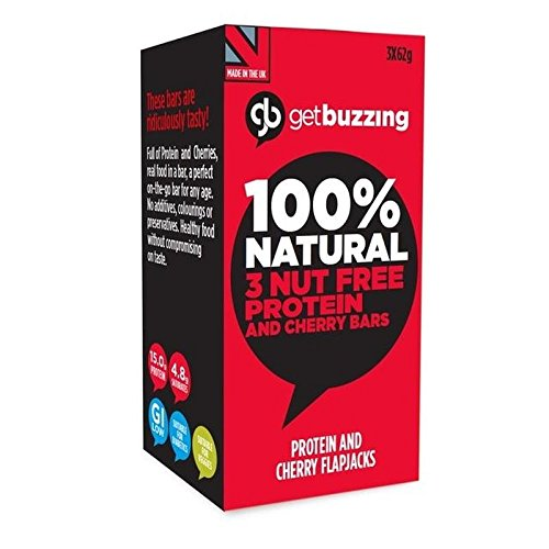 - Getbuzzing Nut Free Cherry Protein 3 x 62g - Pack of 6