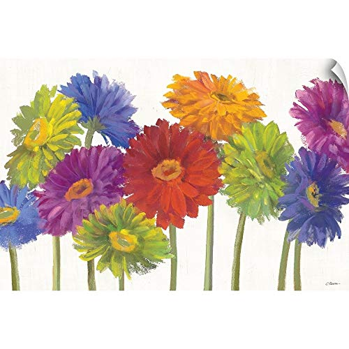 CANVAS ON DEMAND Colorful Gerbera Daisies Wall Peel Art Print, 30