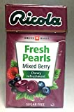 Ricola Herbal Sugar Free Swiss Pearl Breath Mints 1 Case (Pack of 20) (Mixed Berry)