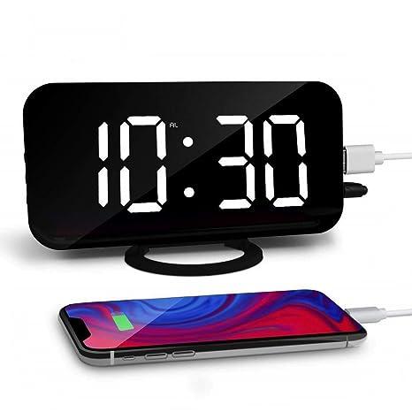 Amazon.com: ETENOVA - Reloj despertador digital, pantalla ...