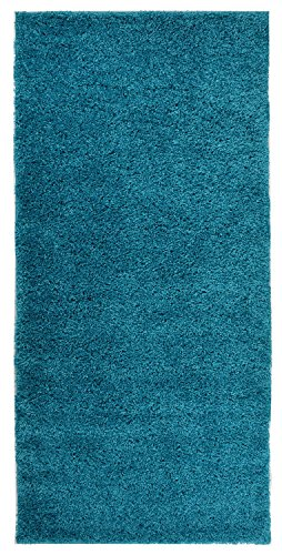 Solid Color New Shag Area Rug Rugs Shaggy Collection (Turquoise Blue, 3'3