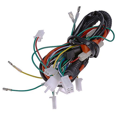 for eton 4 wheeler wiring harness wiring diagram Eton Viper 90 amazon com quioss electric wire wiring harness for chinese atv utv for eton 4 wheeler