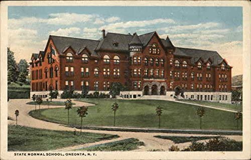 State Normal School Oneonta New York Ny Original Vintage Postcard