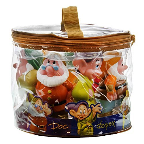 Seven Dwarfs Snow - Disney Snow White Seven Dwarf Pool Bath Tub Toy Set