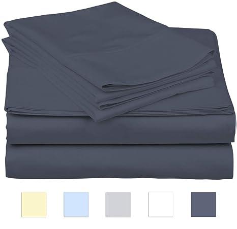 SanCozy Juego de sábanas de 400 Hilos, Juego de 4 Piezas, 100% algodón