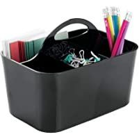 mDesign Small Office Storage Organizer Utility Tote Caddy Holder with Handle for Cabinets, Desks, Workspaces - Holds…