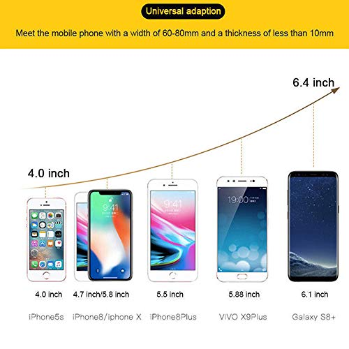 Car Phone Mount,Gravity Cell Phone Holder for car Air Vent Car Phone Holder Universal Car Cradle Mount Compatible iPhone Xs MAX/X/8/7, Galaxy Note 9/S9 Plus/S8/S7 by Licupiee (Image #7)