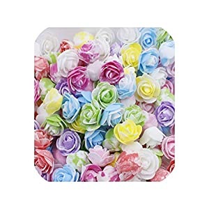 END GAME 100pcs Foam Fake Flower Roses Head Artificial Flowers Wedding Decoration for Scrapbooking Gift 103