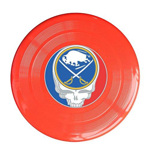 SYYFB Unisex Skull Buffalo Hockey Outdoor Game Frisbee Ultra Star Red