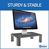 Halter LZ-500 Monitor Stand Riser Height Adjustable Storage Organizer - for PC, iMac, Laptop, Phone & Tablet, Printer - 1 Pack