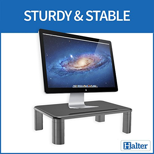Halter LZ-500 Monitor Stand Riser Height Adjustable Storage Organizer - for PC, iMac, Laptop, Phone & Tablet, Printer - 1 Pack by Halter