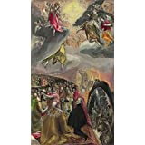 Oil painting 'El Greco The Adoration of the Name of Jesus ' printing on high quality polyster Canvas , 24 x 42 inch / 61 x 107 cm ,the best Bar decor and Home decor and Gifts is this Replica Art DecorativePrints on Canvas