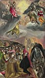 Oil Painting 'El Greco The Adoration Of The Name Of Jesus ' Printing On Perfect Effect Canvas , 12 X 21 Inch / 30 X 53 Cm ,the Best Hallway Artwork And Home Artwork And Gifts Is This High Resolution Art Decorative Prints On Canvas