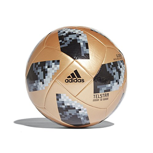 Adidas World Cup 2018 Glider Training Soccer Ball 5 Gold/Black