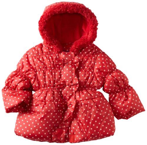 Pink Platinum Baby Girls' Promo Puffer Dots Jacket