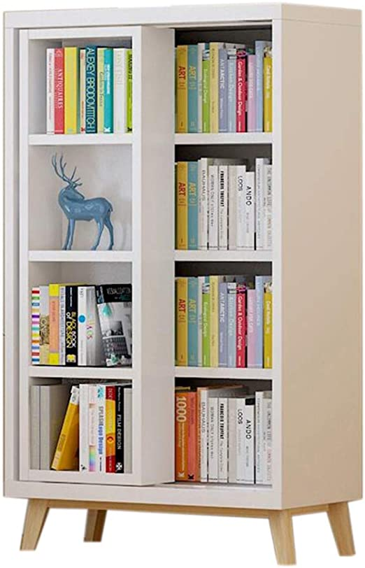 JCNFA Estante Estante Para Libros Librería Con Puertas Correderas ...