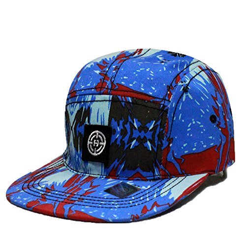City Hunter Cn220 5 Panel Paint Splatter Hat - Blue - Paint Splatter Cap