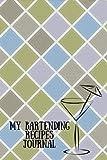 My Bartending Recipes Journal: Diamond Pattern