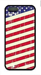 Vintage Flag Cover Case Skin for iPhone 5 5S Soft TPU Black