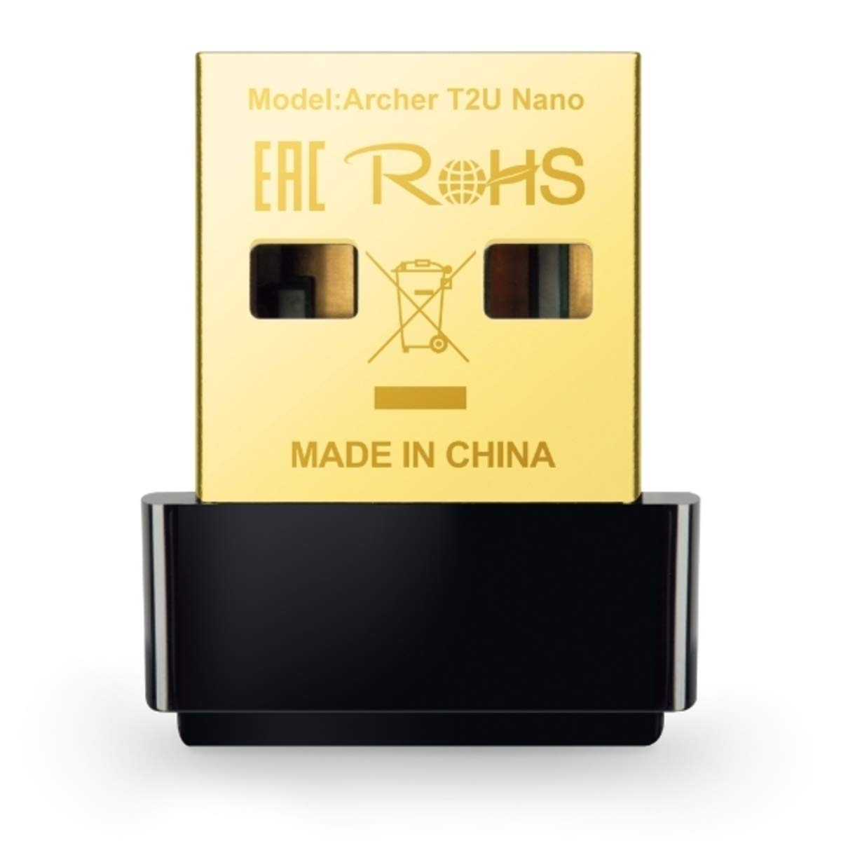 TP-Link Mini - AC600 USB 2.0 Wifi Adapter | 2.4G/5G Dual Band Wireless Network Adapter for PC Desktop | Mini Travel Size |  Supports Windows 10, 8.1, 8, 7, XP / Mac OS X 10.9-10.13 (Archer T2U Nano)