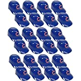 MLB Mini Batting Helmet Ice Cream Sundae/ Snack Bowls, Cubs - 24 Pack