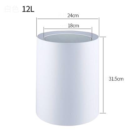 Amazon.com: Double barrel swing lid plastic dustbin,Creative ...