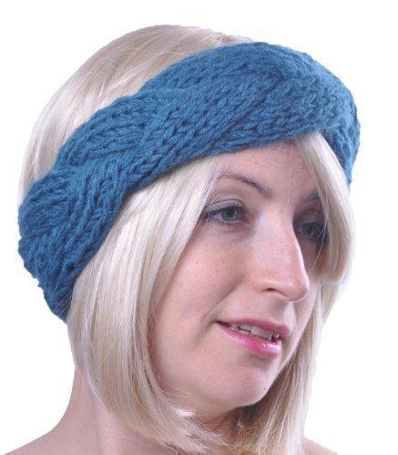 Damen Winter Stirnband Wolle Geflochten Band Geflecht Gestrickt
