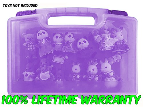 Life Made Better Toy Storage Organizer. Fits Up To 30 Mini Figures. Compatible With Calico Critters TM And Accessories- (Characters To Be For Halloween)